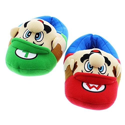 Super Mario Brothers Boys Plush Slippers (large /