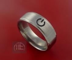 Titanium Power Symbol Ring