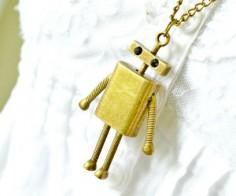 Antique Robot Necklace
