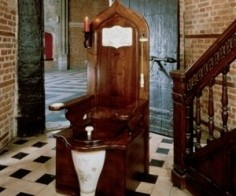 Wooden Toilet Throne